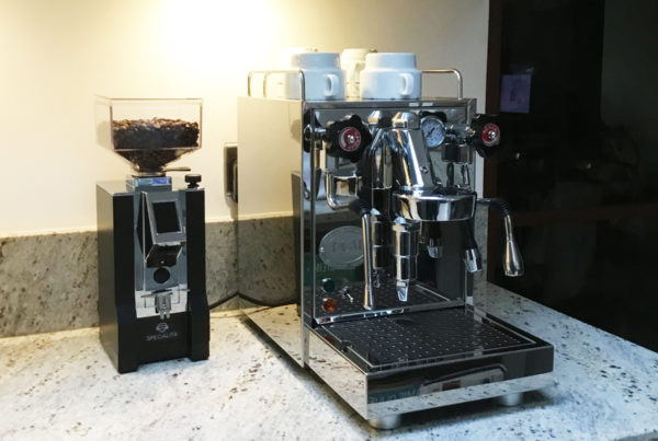 ECM Mechanika Slim Espresso Machine and Eureka Mignon Specialita Espresso Grinder.