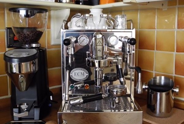 ECM Mechanika and Rocket Fausto Espresso Grinder