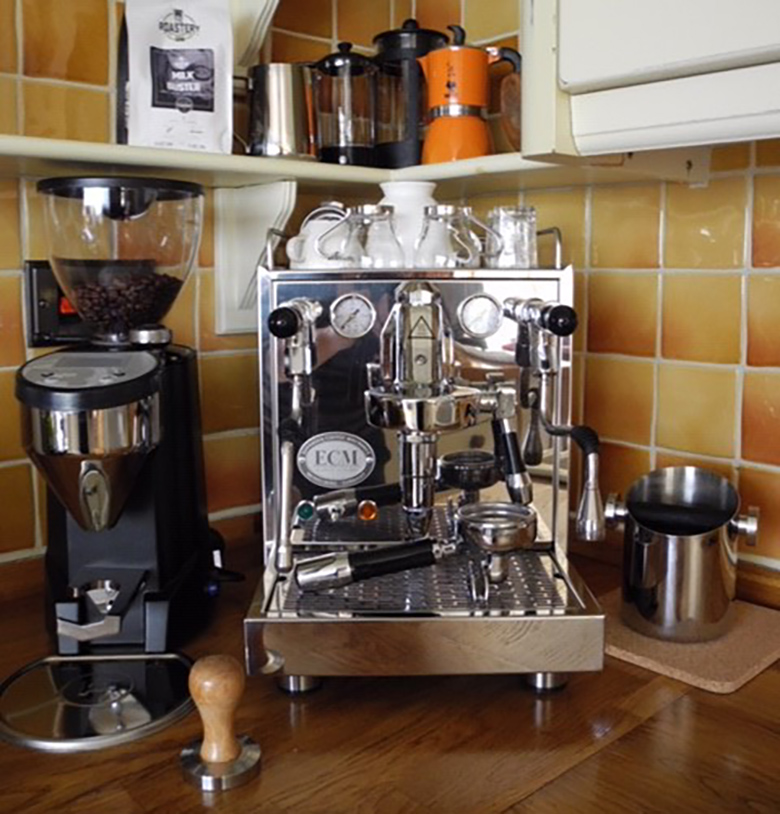ECM Mechanika and Rocket Fausto Espresso Grinder